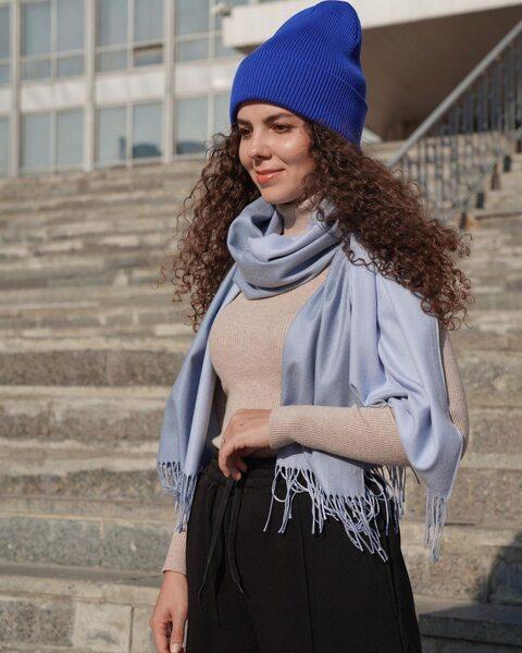 Универсальная шапка синего цвета LM1003-4