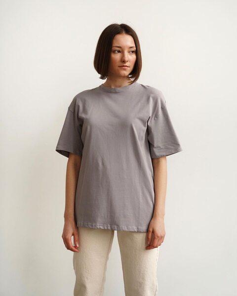 Базова футболка сіра F6010-3