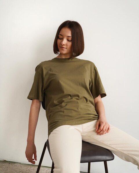 Базова футболка хакі F6010-5