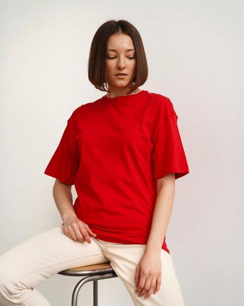 Базова футболка червона F6010-4