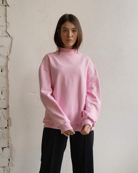 Свитшот Leman розовый LM9031-3