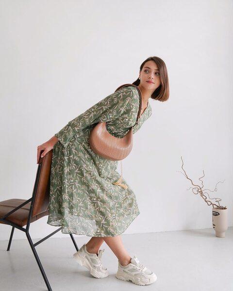 Сукня з принтом LM4198