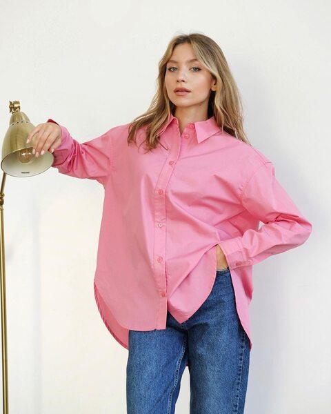 Базова сорочка рожевого кольору LM4348-2