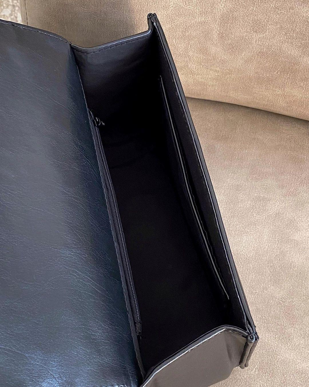 Класичний стьобаний клатч чорний LEMAN LM4349-1